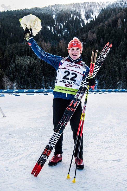 Brněnský biatlonista Ondřej Hošek.