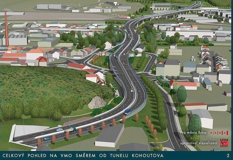 Vizualizace - Velký městský okruh - Tomkovo náměstí.