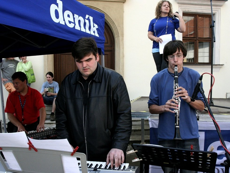 Hudebníci byli součástí kulturního programu.