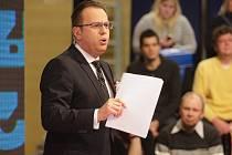 Pondělní zastávka pořadu Otázky Václava Moravce (na snímku) v brněnském kampusu.