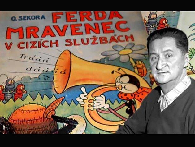 Kreslíř Ondřej Sekora vytvořil řadu originálních postaviček, za což bývá ve světě označován jako Disney české knihy.