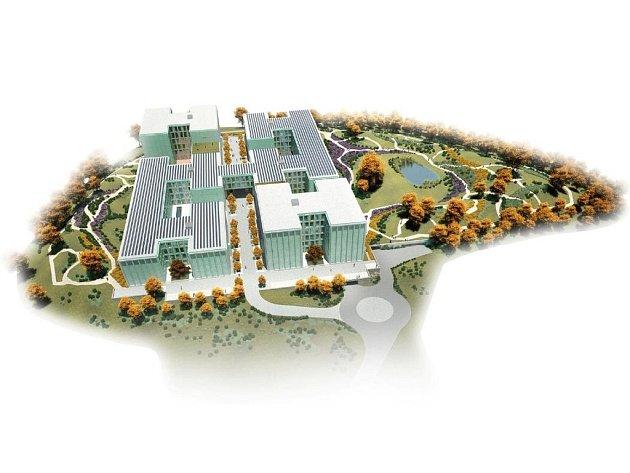 VELKORYSÝ PROJEKT. Soubor šesti vzájemně propojených budov doplní dvě společná podzemní patra s parkovišti.
