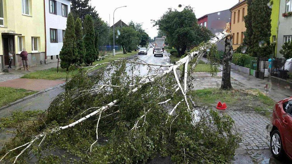 Téměř dvě desítky výjezdů hasičů si vyžádaly páteční bouřky v Jihomoravském kraji.