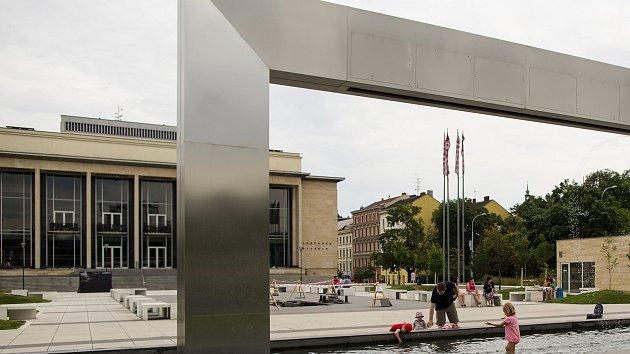 Fontána u Janáčkova divadla v Brně.