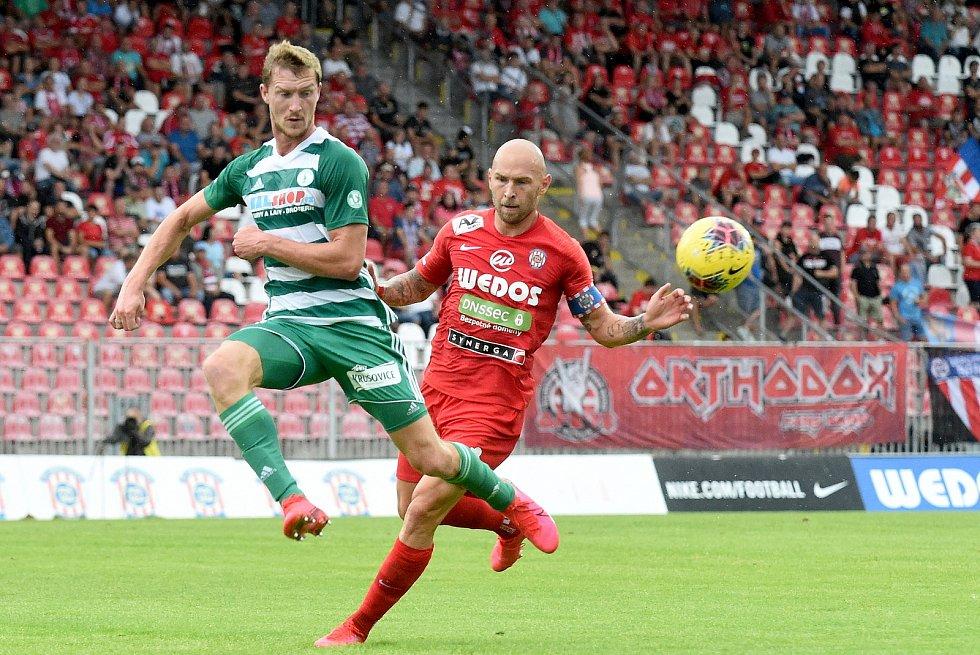 Domácí FC Zbrojovka Brno proti Bohemians Praha