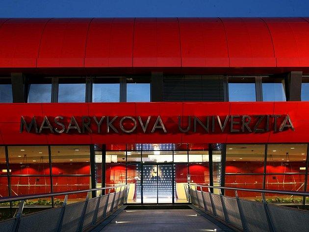 Nový kampus Masarykovy univerzity v noci.