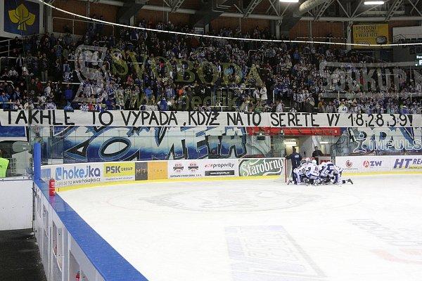 První část vzkazu fanoušků týmu brněnské Komety.