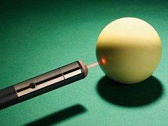 Laserový paprsek. Ilustrační foto.