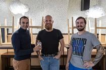 První díl podcastu se věnoval podniku Ramen Brno. Vlevo Roman Blumaier.