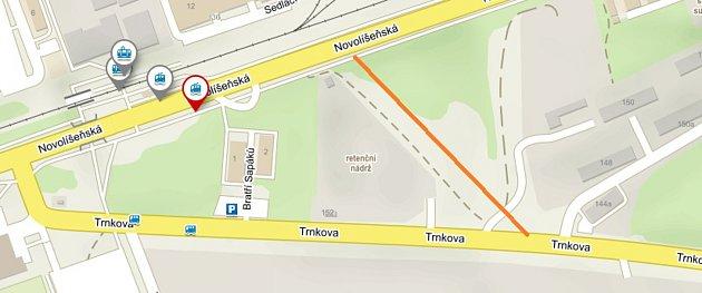 Nová spojka Novolíšeňské a Trnkové ulice má vbudoucnu ulevit dopravě.