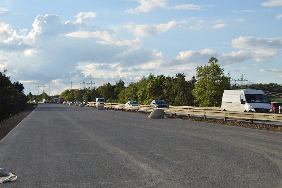 174. kilometr dálnice D1 u Říček. Jedenácté nejvíce nehodové místo v kraji.