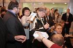 Prezident Zeman při návštěvě Blanska.