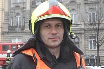 Velitel zásahu Zdeněk Chvátal.