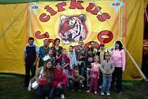 Představení cirkusu Jo-Joo pro děti ze Základní školy speciální a Praktické školy v Ibsenově ulici v Brně.
