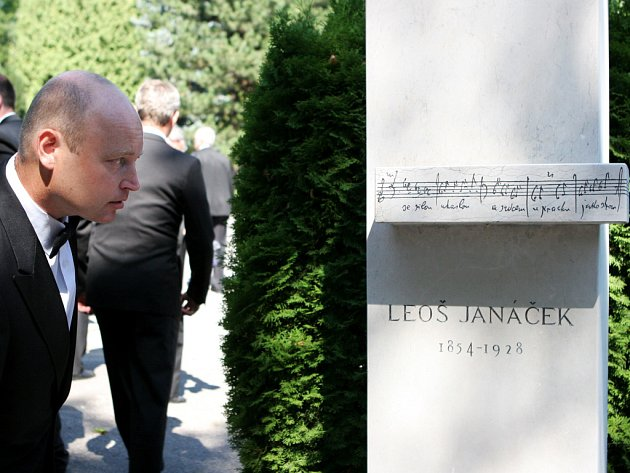 Vzpomínkový akt k připomenutí osmdesátého výročí úmrtí Leoše Janáčka.
