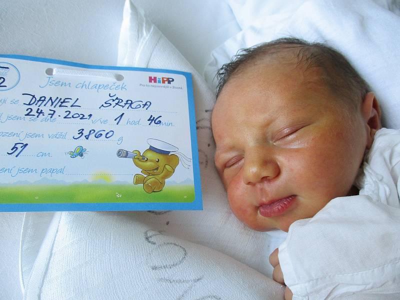 Daniel Šraga, 24. 7. 2021, Prušánky, Nemocnice Břeclav, 3860 g, 51 cm