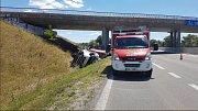 Nehoda kamionu na D52 za sjezdem na Pohořelice směr Brno komplikuje dopravu.