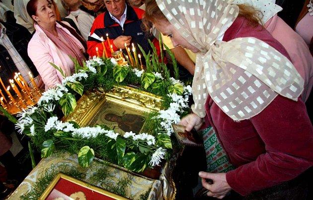 Záběr z chrámu svatého Václava.
