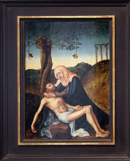 Mrtvý Kristus. Dvojice renesančních obrazů Lucase Cranacha st. je opět k vidění v Místodržitelském paláci.