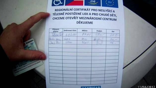 Podvodník vybíral v Brně peníze na fiktivní charitu.