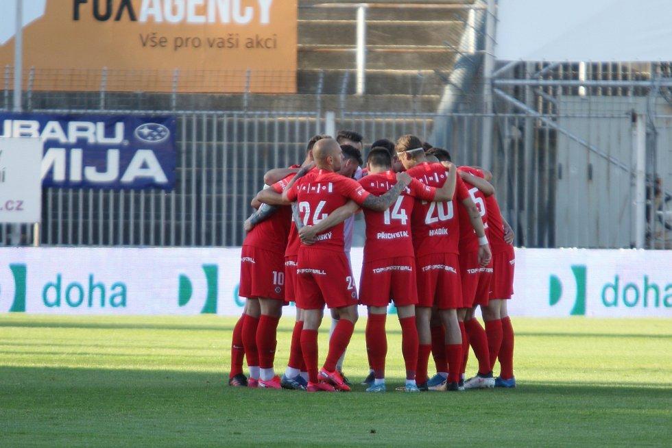 Brněnští fotbalisté se doma proti pražské Dukle neprosadili.