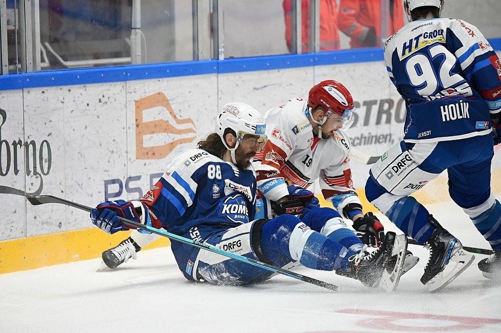 Hokejisté Komety přivítali v posledním duelu před reprezentační pauzou Hradec Králové.