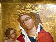 Středověký obraz Madona z Veveří.