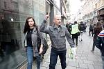 Prvomájový pochod Dělnické mládeže.