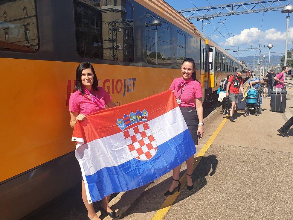 Vlaky RegioJetu jezdily z Brna a Břeclavi do Chorvatska v turistické sezoně už loni.