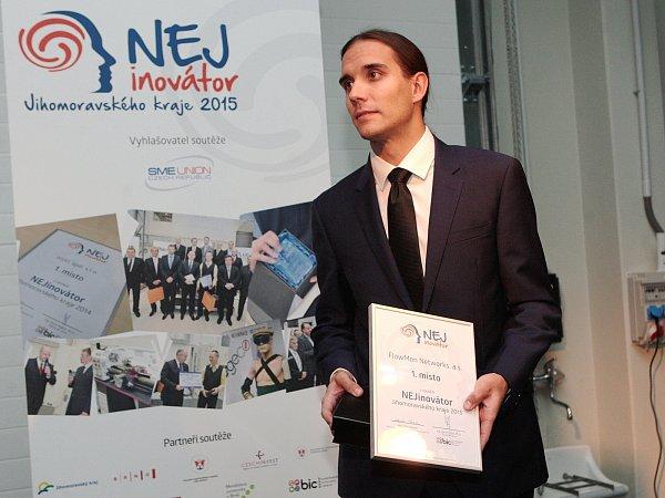 Ocenění Nejinovátora Jihomoravského kraje získala brněnská firma Flowmon Networks. Jejím obchodním ředitelem je Petr Špringl.