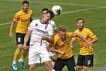 24.6.2020 - 26 kolo F:NL mezi domácí SK Líšeň (bílá - Jan Silný) proti FK Baník Sokolov (žlutá - Stanislav Vávra)