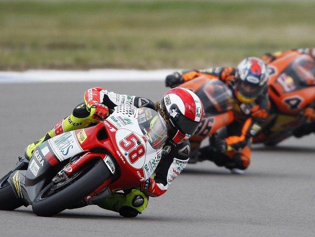 V Brně se na testování sejdou dva nejlepší jezdci třídy do 250 ccm – Mika Kallio (uprostřed) a Marco Simoncelli (vlevo).