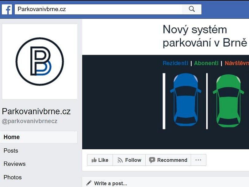 Printscreen facebookové stránky Parkovanivbrne.cz, na jejíž odpovědi si někteří Brňané stěžují.