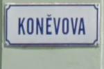 Koněvova ulice v Mikulově
