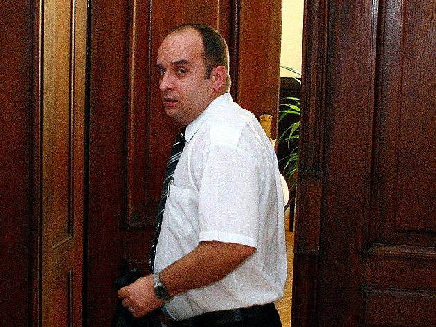 Martin Krikl u brněnského soudu.