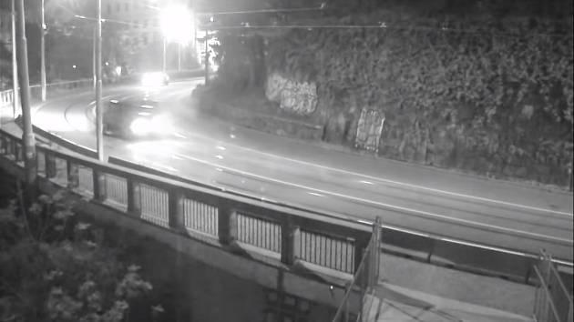 Nehoda v Husově ulici v Brně.