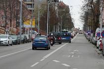 Brněnská ulice Úvoz.