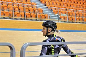 Dráhoví cyklisté brněnské Dukly (na snímku Sára Kaňkovská) strávili další dva týdny na soustředění v Bulharsku.