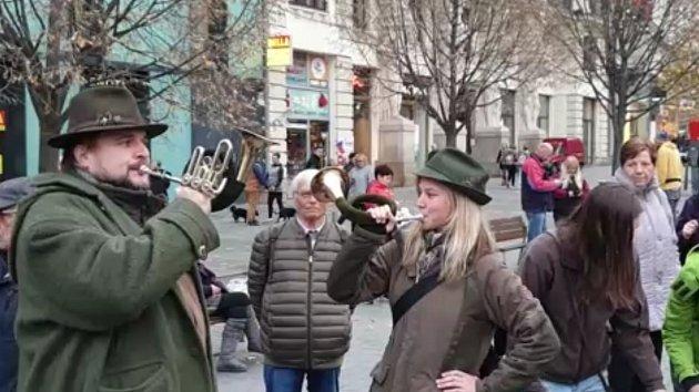 Dravci, sovy i lovečtí psi. Sokolníci se ukázali v centru Brna