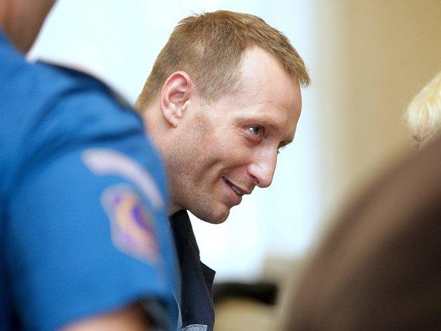 Takzvaný Toflův gang před brněnským soudem (na snímku Radoslav Petr).