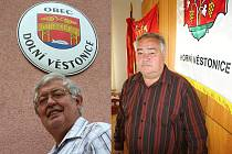 Místostarosta Dolních Věstonic Jan Votava (vlevo) a starosta Horních Věstonic Vladislav Moravčík.