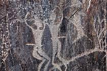 JESKYNNÍ GALERIE. Skalní malby v těžce dostupné oblasti Sajmala Taš pochází z let 3000 až 1000 před naším letopočtem.