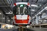 Nová hala denní očisty a ošetření tramvají v areálu brněnské vozovny Pisárky.