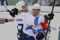 Kometa (v bílém) přehrála ve třetím utkání skupiny D Ligy mistrů Něman Grodno 6:2.