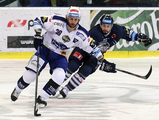 Hokejová Kometa v zápase proti Liberci. Ilustrační foto.