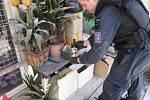 Při kontrole stánků v tržnici v Olomoucké ulici v Brně našli celníci nezdaněný alkohol.