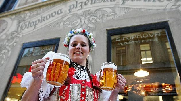 Stopkova pivnice v České ulici v Brně.