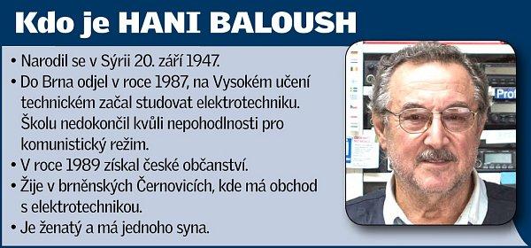Brněnský Syřan Hani Baloush.