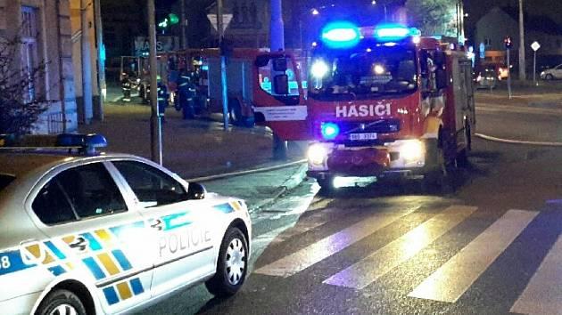 Páteční tragický požár v brněnské Provazníkově ulici.