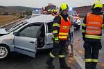 Dopravní nehoda na dálnici D1 si vyžádala jedno středně těžké a jedno lehké zranění